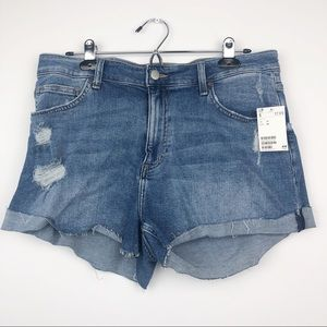H&M Denim Distressed Shorts NWT Size 12